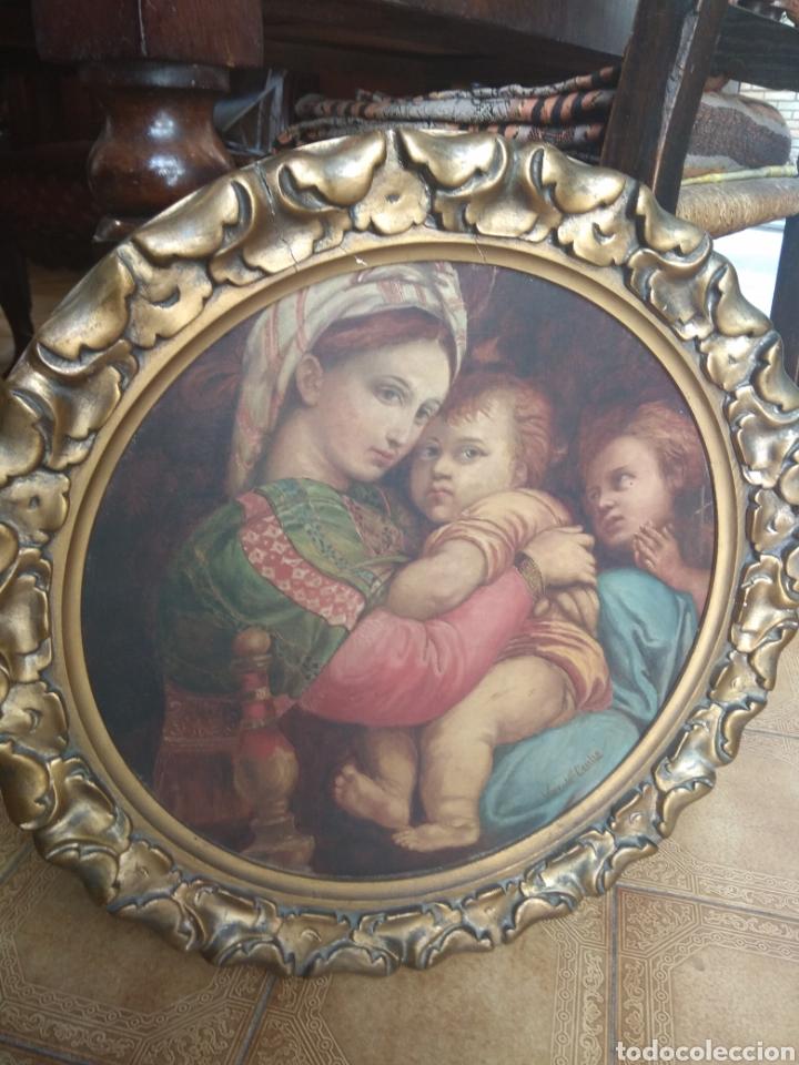 ÓLEO SOBRE LIENZO VIRGEN DE LA SILLA (Arte - Arte Religioso - Pintura Religiosa - Oleo)