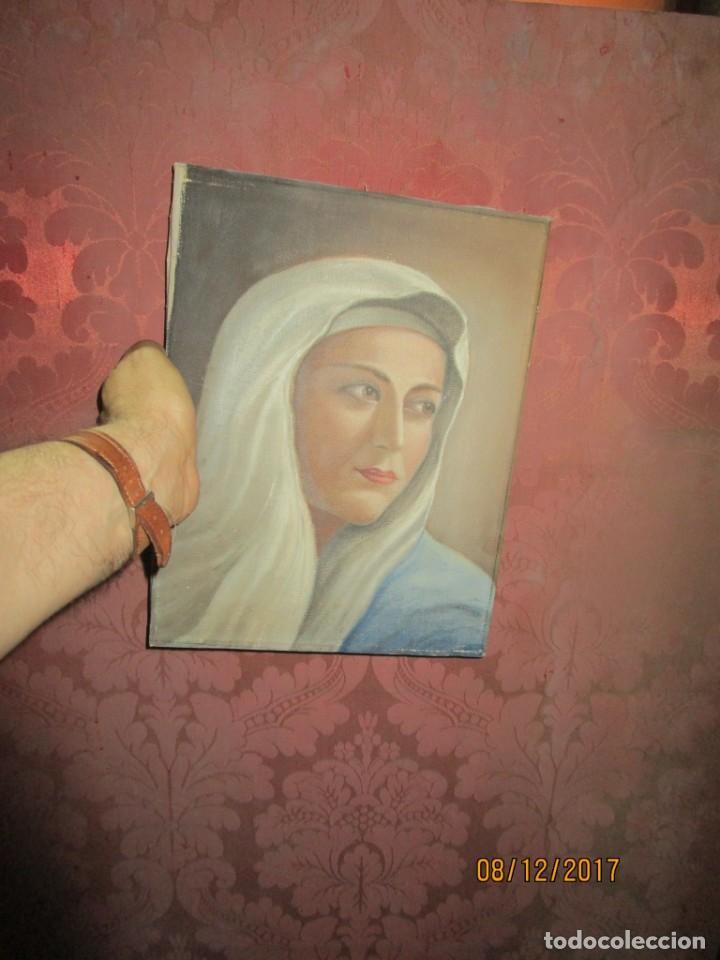 Arte: ANTIGUA PINTURA VIRGEN OLEO EN LIENZO CIRCULO DE GASTON CASTELLO ? ALICANTE - Foto 4 - 140466186