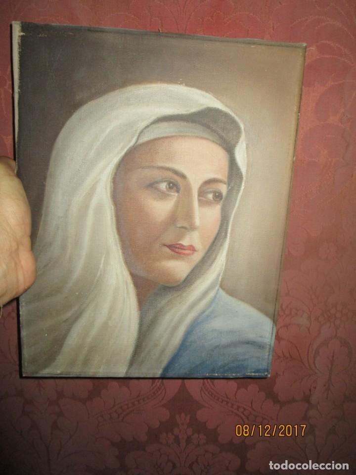 Arte: ANTIGUA PINTURA VIRGEN OLEO EN LIENZO CIRCULO DE GASTON CASTELLO ? ALICANTE - Foto 53 - 140466186