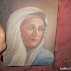 Arte: ANTIGUA PINTURA VIRGEN OLEO EN LIENZO CIRCULO DE GASTON CASTELLO ? ALICANTE. Lote 140466186