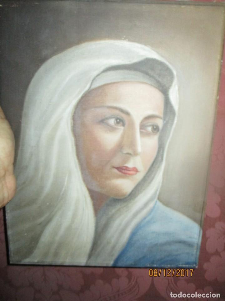 Arte: ANTIGUA PINTURA VIRGEN OLEO EN LIENZO CIRCULO DE GASTON CASTELLO ? ALICANTE - Foto 54 - 140466186