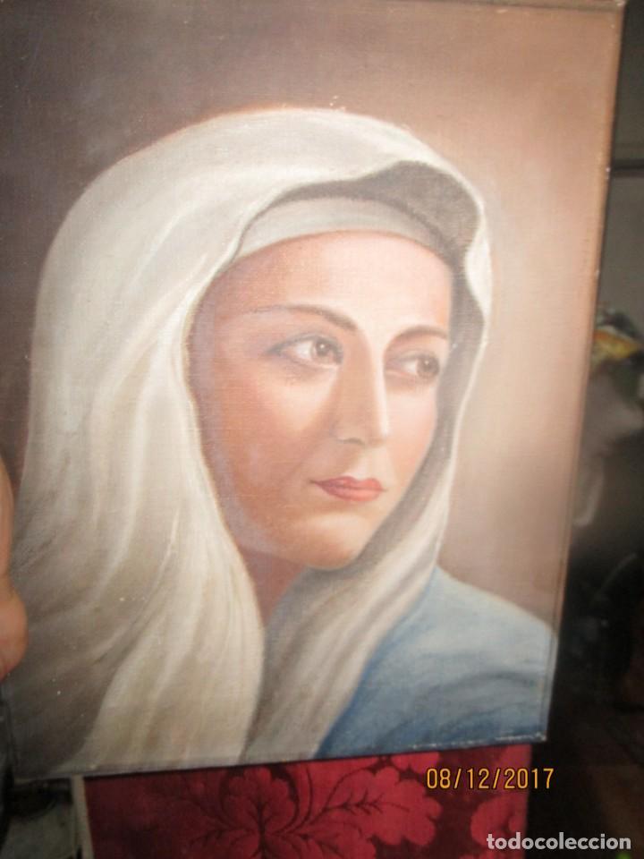 Arte: ANTIGUA PINTURA VIRGEN OLEO EN LIENZO CIRCULO DE GASTON CASTELLO ? ALICANTE - Foto 55 - 140466186