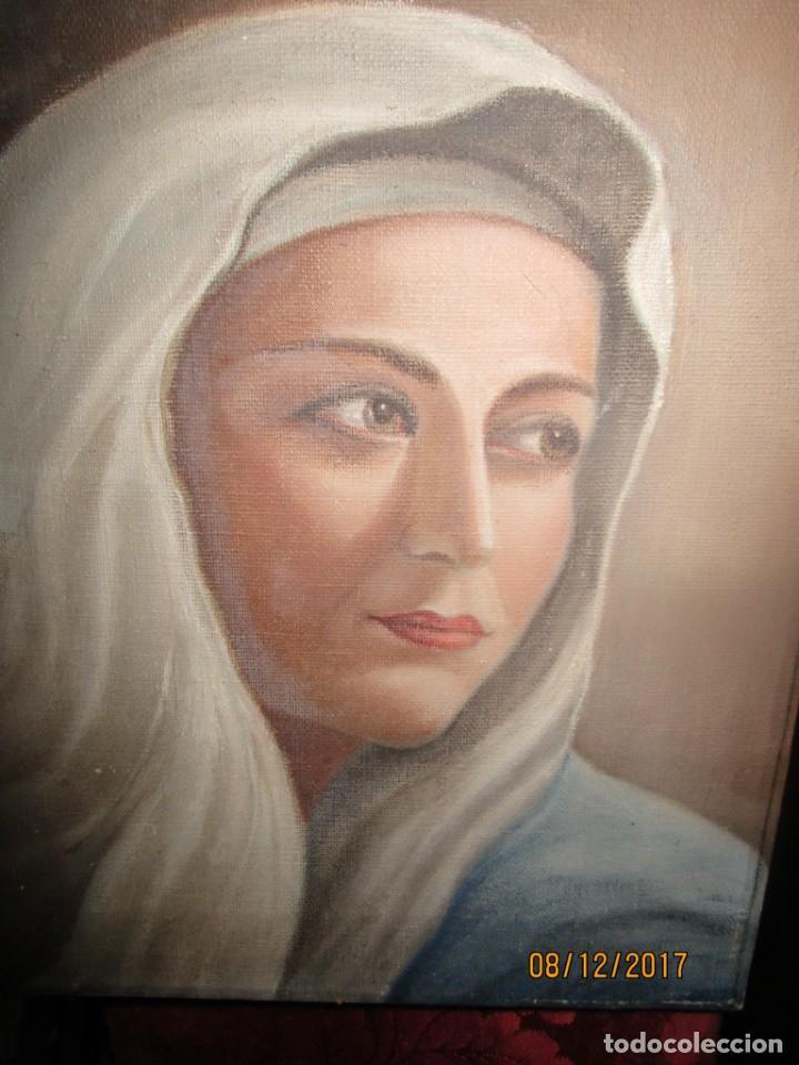 Arte: ANTIGUA PINTURA VIRGEN OLEO EN LIENZO CIRCULO DE GASTON CASTELLO ? ALICANTE - Foto 56 - 140466186