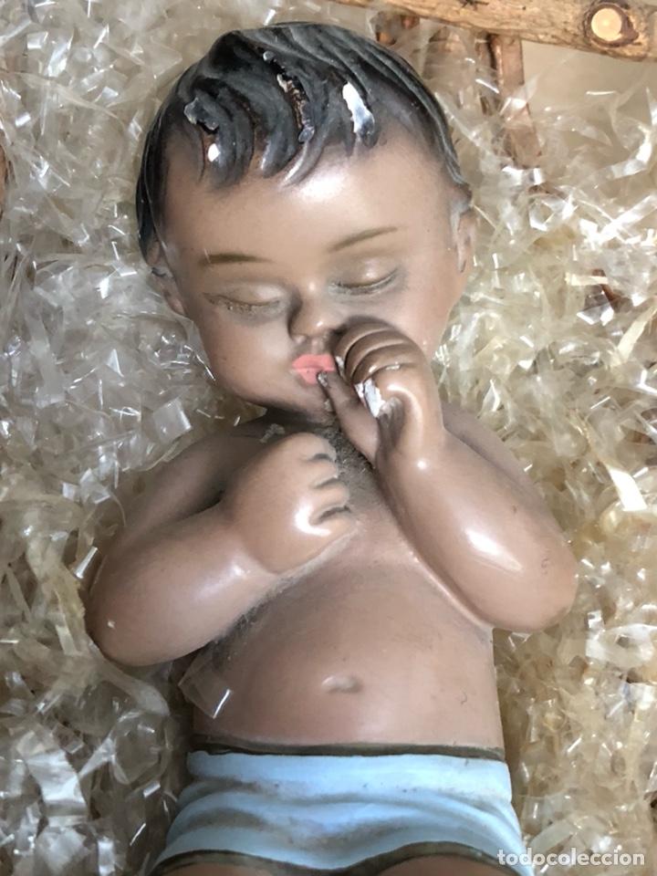 Arte: Bonito niño Jesús antiguo, marcado - Foto 2 - 213463218