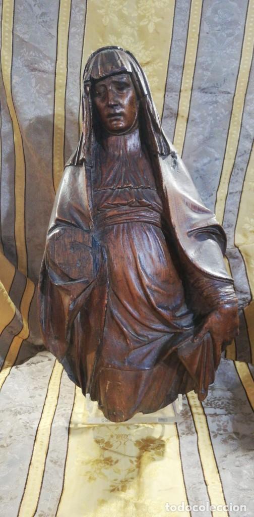 TALLA ANTIGUA DE MADERA (Arte - Arte Religioso - Escultura)