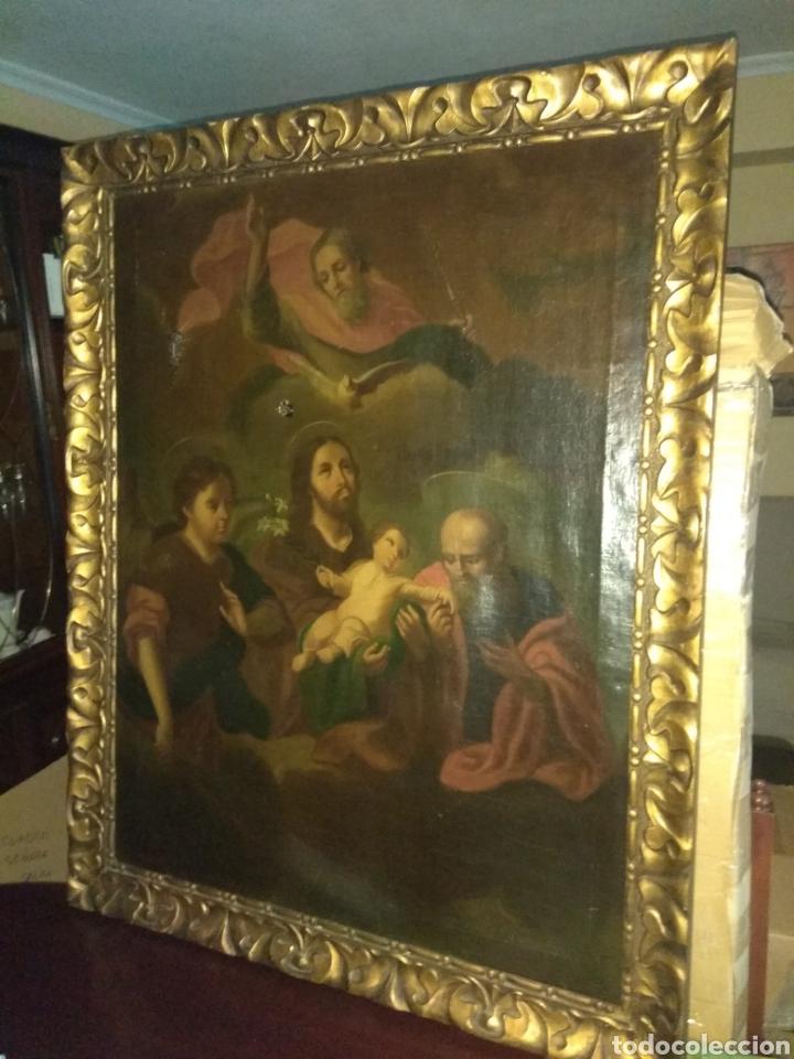 OLEO SOBRE LIENZO ADORACIÓN AL NIÑO JESÚS XVIII - XIX (Arte - Arte Religioso - Pintura Religiosa - Oleo)