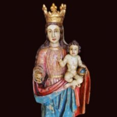 Arte: TALLA VIRGEN-MADRE - REINA CON NIÑO, SIGLOS XIV- XV PURA, SIN RETOQUES, MARAVILLOSA.. Lote 213584857
