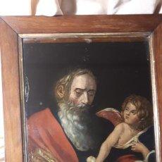 Arte: SAN MATEO. GRABADO Y PINTADO DETRÁS DEL CRISTAL. S. XIX.. Lote 257491325