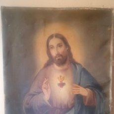 Arte: ICONO EN LIENZO SIN RAMA, JESÚS. Lote 213826902