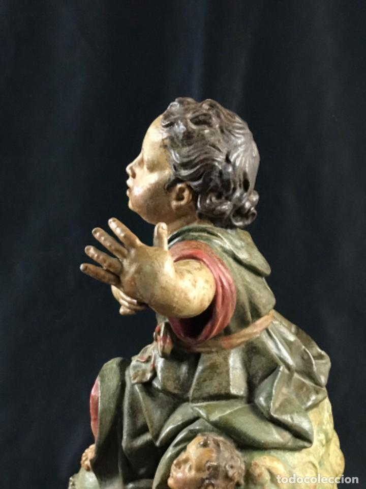 Arte: IMPORTANTE NIÑO DE PLOMO SAN JUANITO ESCUELA ANDALUZA JOSE RISUEÑO O PEDRO ROLDAN SIGLO XVIII - Foto 28 - 214019711