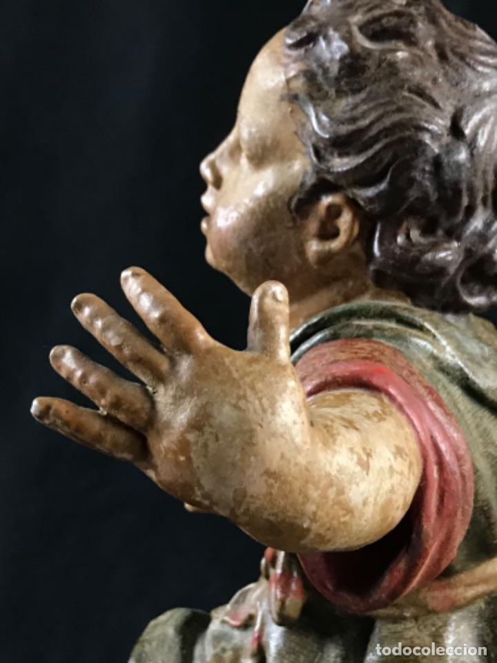 Arte: IMPORTANTE NIÑO DE PLOMO SAN JUANITO ESCUELA ANDALUZA JOSE RISUEÑO O PEDRO ROLDAN SIGLO XVIII - Foto 29 - 214019711