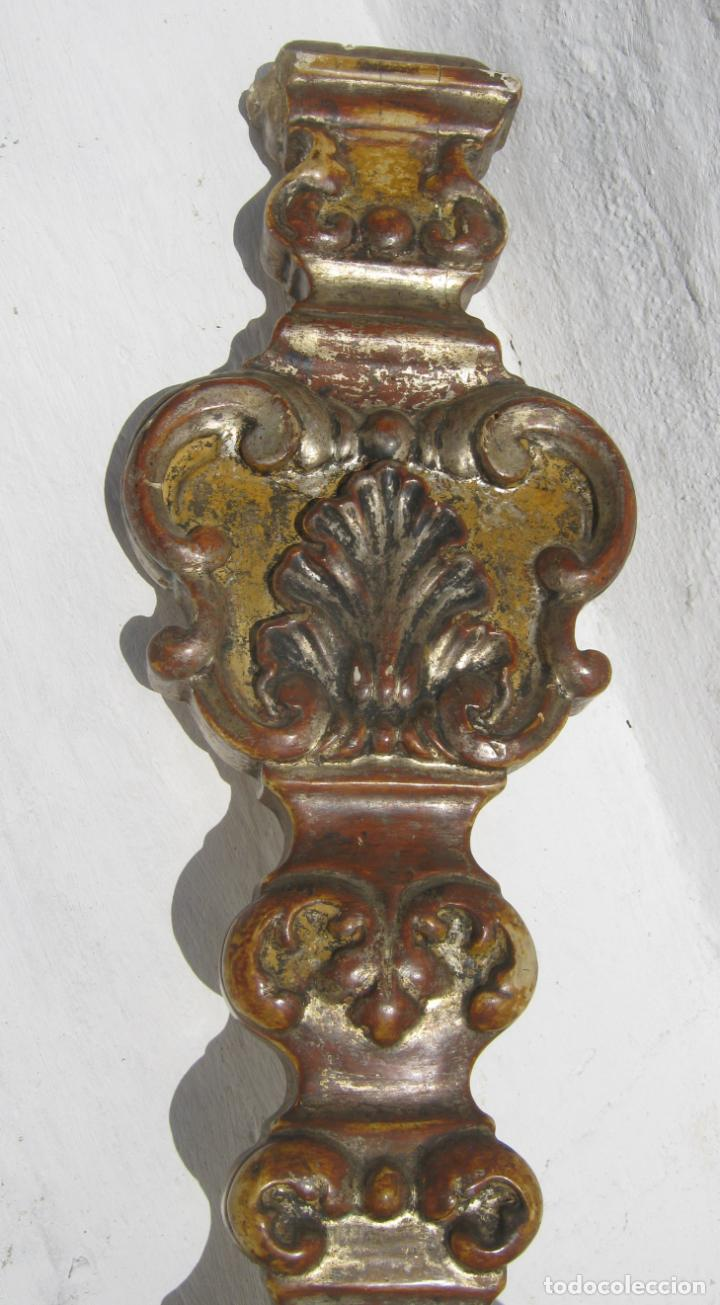 Arte: Impresionante pie o peana s.XVIII para Cruz Procesional Reliquia etc Blason Cruz flordelisada Orden - Foto 7 - 214051868