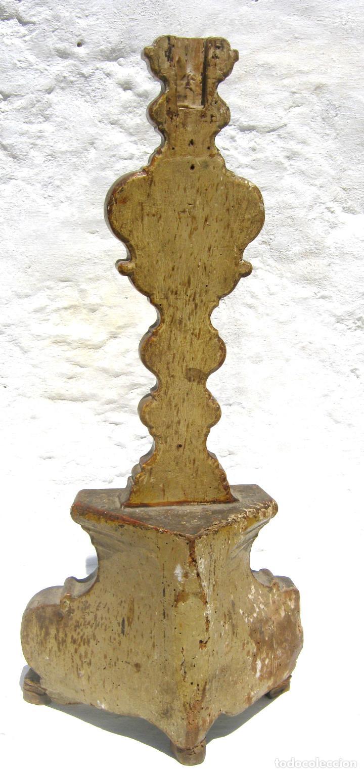 Arte: Impresionante pie o peana s.XVIII para Cruz Procesional Reliquia etc Blason Cruz flordelisada Orden - Foto 8 - 214051868