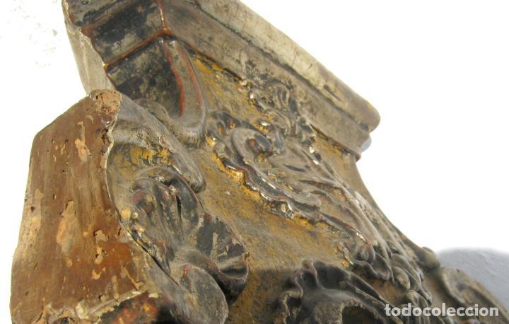 Arte: Impresionante pie o peana s.XVIII para Cruz Procesional Reliquia etc Blason Cruz flordelisada Orden - Foto 13 - 214051868