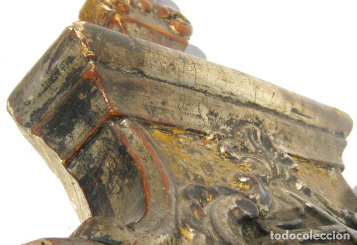 Arte: Impresionante pie o peana s.XVIII para Cruz Procesional Reliquia etc Blason Cruz flordelisada Orden - Foto 14 - 214051868