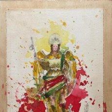 Arte: PINTURA SAN RAFAEL ARCANGEL SUBASTA DE BONDAD CÁRITAS- LUIS DE LA PURA. Lote 214092358