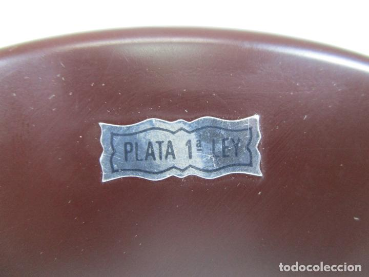 Arte: Precioso Tríptico de Nacimiento - Belén Realizado en Plata de Ley y Resina - Años 80 - Foto 12 - 214322040