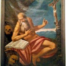 Arte: ESCUELA ITALIANA DEL SIGLO XVII, SAN GERÓNIMO. Lote 214337827