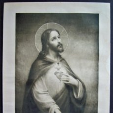 Arte: CORAZÓN DE JESÚS ANTIGUO,MAISON BOUASSE,MADE IN FRANCE.PRINCIPIOS SIGLO XX.COR JESU SACRATISSIMUM.. Lote 214453031
