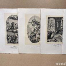 Arte: LOTE 5 GRABADOS LES CHEFS D´OUVRE PEINTURE ITALIENNE 1870 DE PAUL MANTZ. Lote 214600635