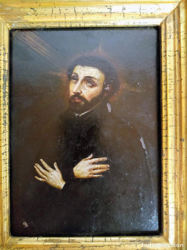 SAN FRANCISCO JAVIER, ÓLEO SOBRE COBRE DEL SIGLO XVIII, COLECCIÓN XAVIER MONTSALVATGE (Arte - Arte Religioso - Pintura Religiosa - Oleo)