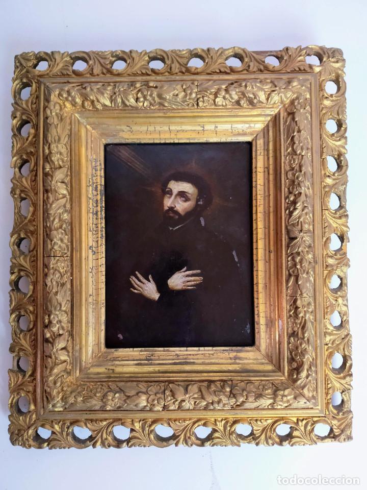 Arte: San Francisco Javier, óleo sobre cobre del siglo XVIII, colección Xavier Montsalvatge - Foto 2 - 214630492