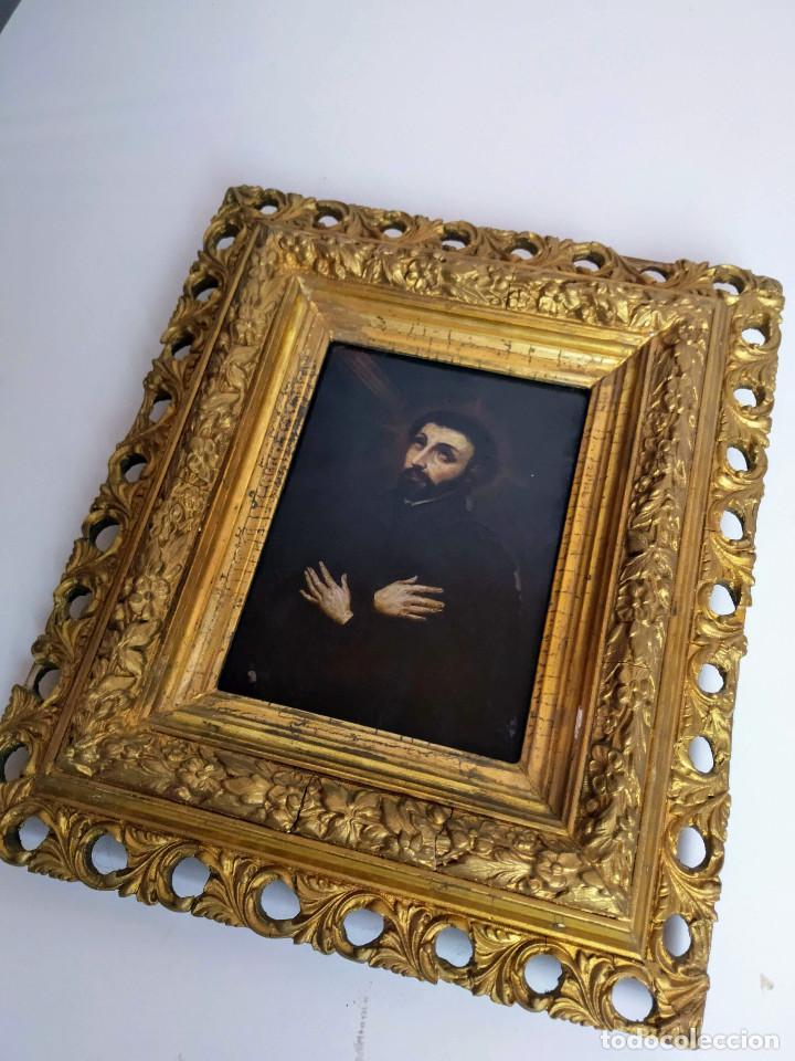 Arte: San Francisco Javier, óleo sobre cobre del siglo XVIII, colección Xavier Montsalvatge - Foto 3 - 214630492