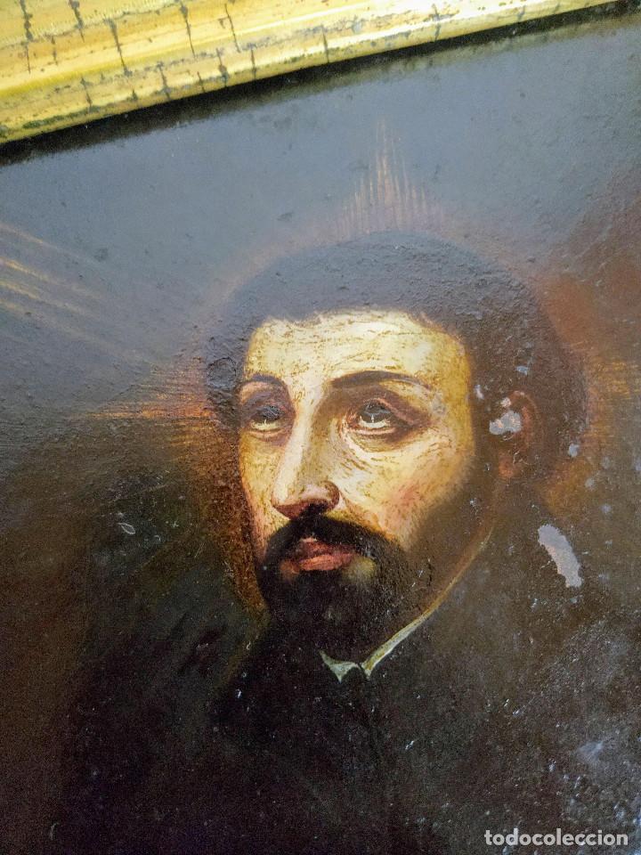 Arte: San Francisco Javier, óleo sobre cobre del siglo XVIII, colección Xavier Montsalvatge - Foto 5 - 214630492