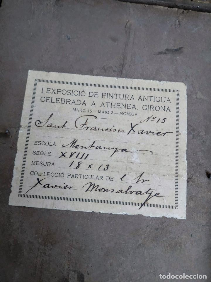 Arte: San Francisco Javier, óleo sobre cobre del siglo XVIII, colección Xavier Montsalvatge - Foto 7 - 214630492