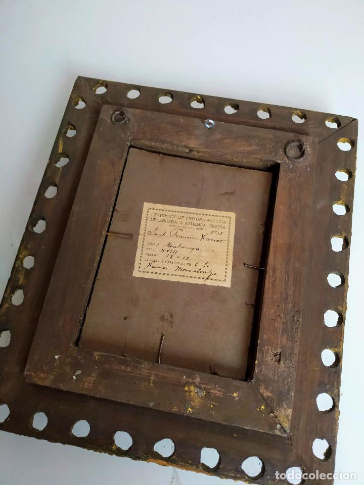 Arte: San Francisco Javier, óleo sobre cobre del siglo XVIII, colección Xavier Montsalvatge - Foto 8 - 214630492