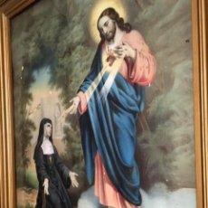 Arte: OBRA DE TEMA RELIGIOSO FIRMA AH CUYAS DIMENSIONES SON 53X66CM (SOPORTE). Lote 214862351
