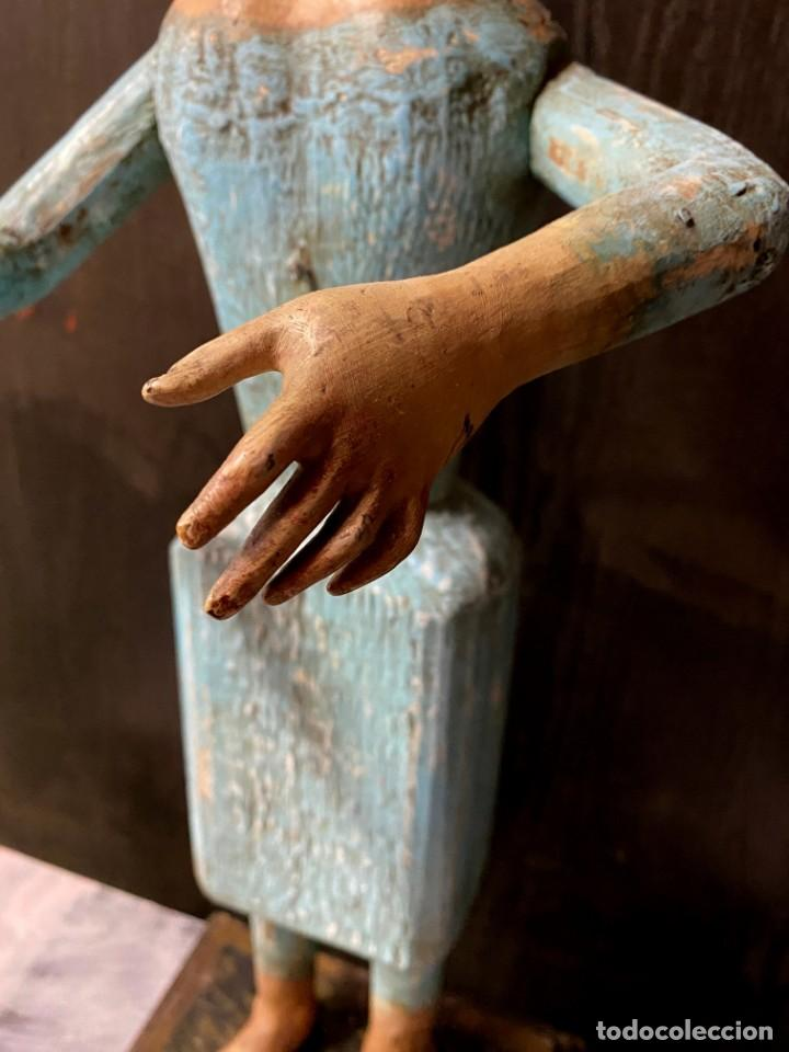 Arte: Antigua Dolorosa cap i pota, talla, barroca siglo XVIII, 65 cm alto. Maravillosa - Foto 4 - 215040623