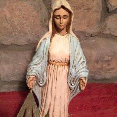 Arte: ANTIGUA VIRGEN DE LOS MILAGROS DE ESCAYOLA AÑOS 70-80. Lote 215043431