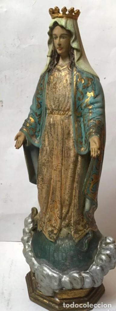 VIRGEN MILAGROSA DEL SIGLO XIX. TALLA DE MADERA POLICROMADA (Arte - Arte Religioso - Escultura)