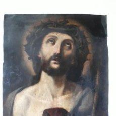 Arte: ECCE HOMO. OLEO SOBRE COBRE. SIGLO XVII / XVIII. MEDIDAS 30,5X24CMT. FIRMADO AL DORSO A MORALES. Lote 215123796