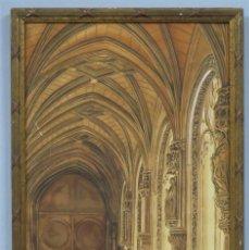 Arte: INTERIOR DE MONASTERIO FRANCISCANO. ACUARELA SOBRE PAPEL. FIRMADO Y FECHADO. SIGLO XIX. Lote 215186191