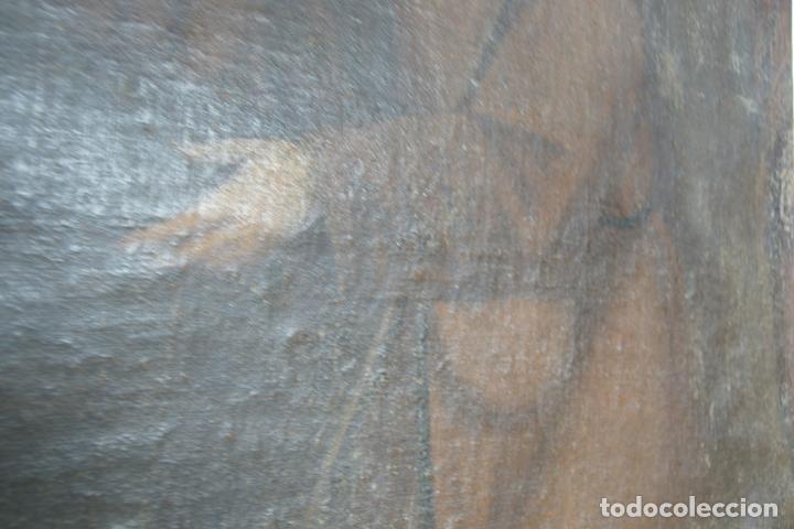 Arte: Oleo sobre lienzo San Francisco de Paula. Siglo XVI-XVII. Gran tamaño. - Foto 5 - 215240338