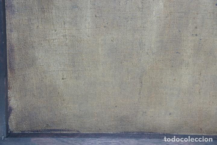 Arte: Oleo sobre lienzo San Francisco de Paula. Siglo XVI-XVII. Gran tamaño. - Foto 7 - 215240338
