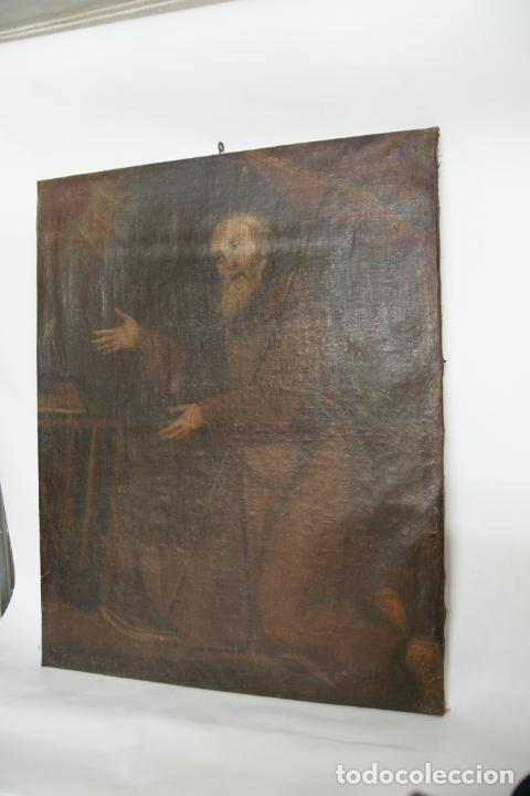 OLEO SOBRE LIENZO SAN FRANCISCO DE PAULA. SIGLO XVI-XVII. GRAN TAMAÑO. (Arte - Arte Religioso - Pintura Religiosa - Oleo)