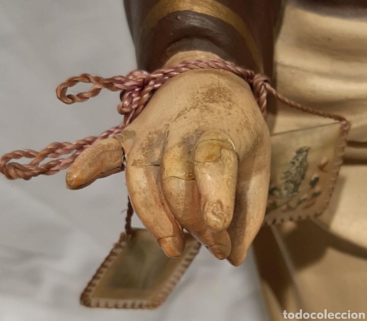Arte: PRECIOSA VIRGEN DEL CARMEN DE OLOT PASTA DE MADERA, OJOS DE VIDRIO. MIDE 68 CM. - Foto 10 - 215281501