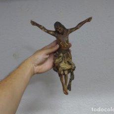 Arte: ANTIGUO JESUCRISTO DE MADERA TALLADA ORIGINAL, PARA CRUCIFIJO, TALLA RELIGIOSA.. Lote 215292752