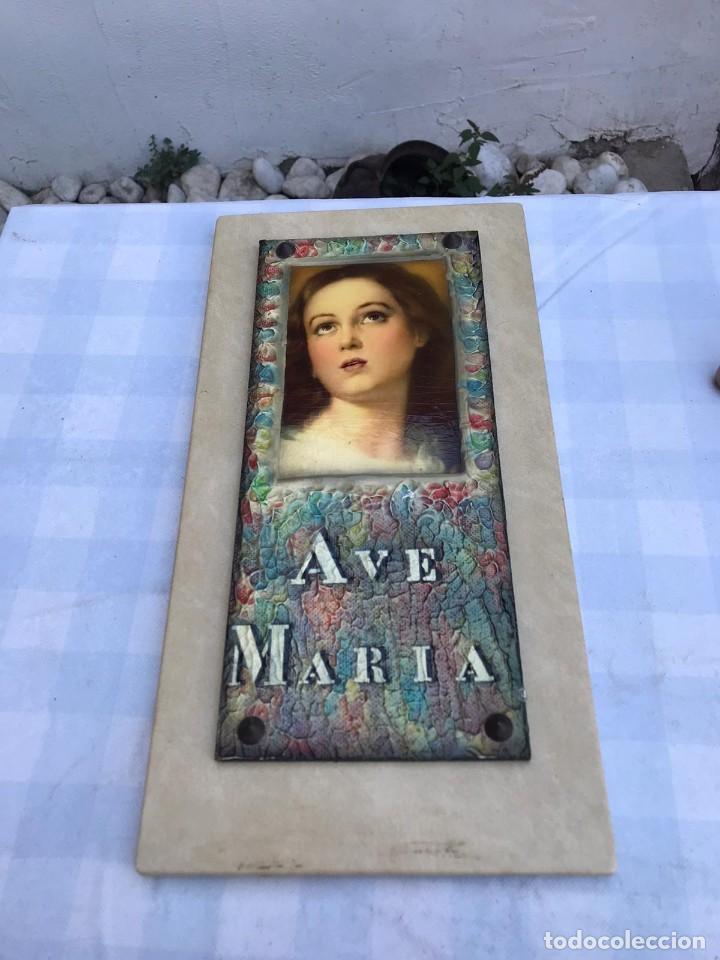 Arte: CUADRO AVE MARÍA AÑOS 60 - Foto 2 - 215350380