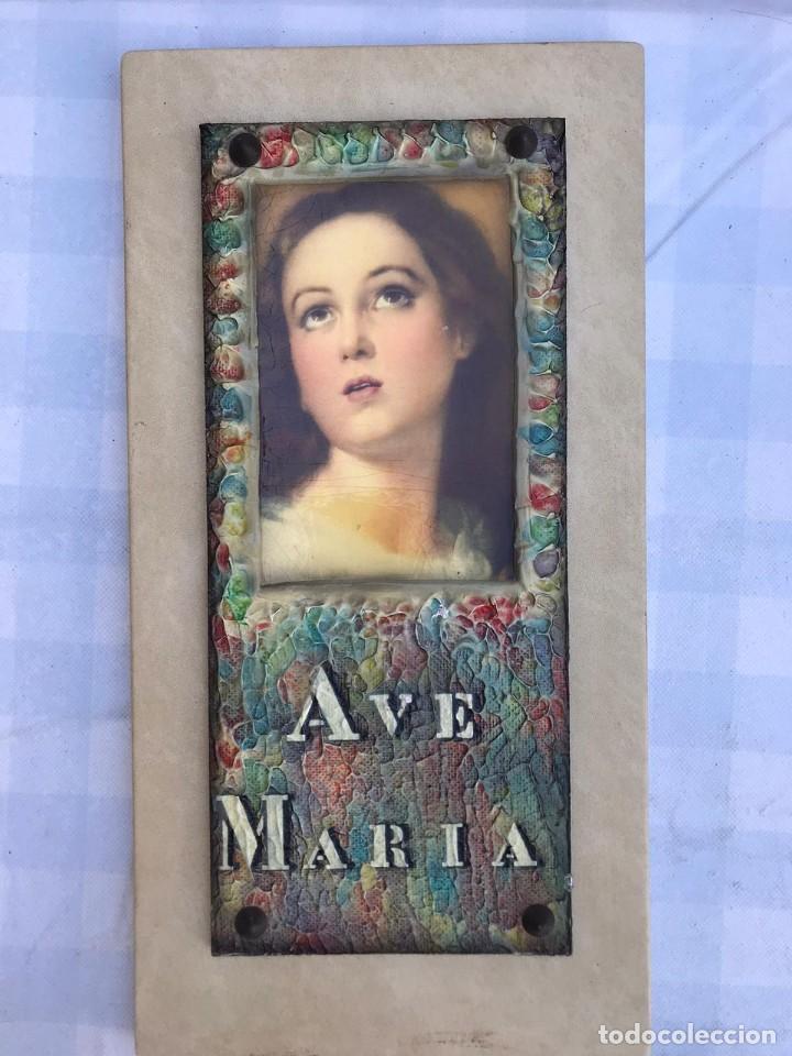 Arte: CUADRO AVE MARÍA AÑOS 60 - Foto 4 - 215350380