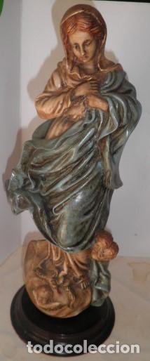 VIRGEN INMACULADA EN MARFILINA (Arte - Arte Religioso - Escultura)