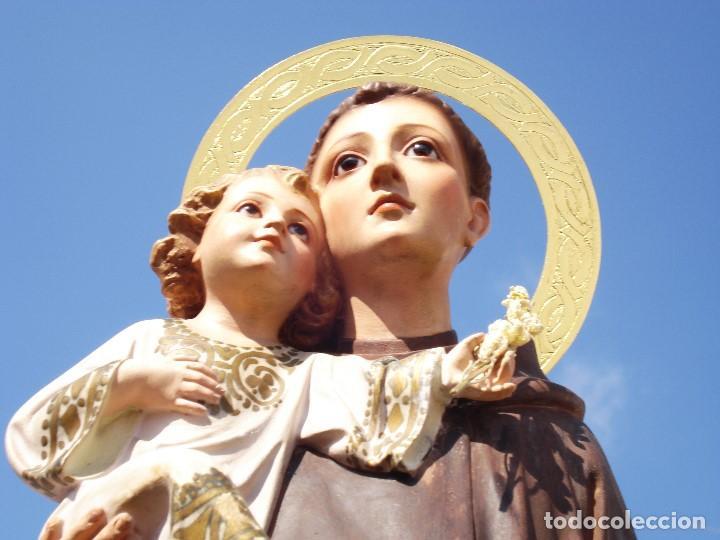 "PIADOSO SAN ANTONIO DE PADUA CON NIÑO DOCTOR DE LA IGLESIA "" LAS ARTES DECORATIVAS OLOT (Arte - Arte Religioso - Escultura)"