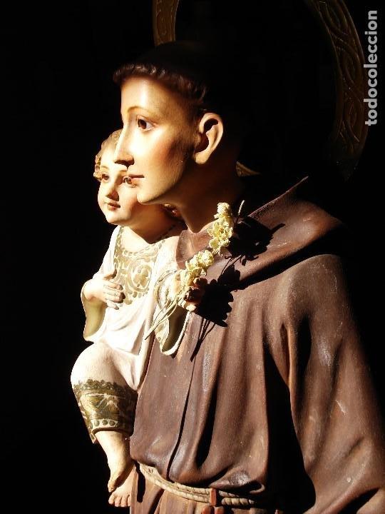 """Arte: PIADOSO SAN ANTONIO DE PADUA CON NIÑO DOCTOR DE LA IGLESIA """" LAS ARTES DECORATIVAS OLOT - Foto 5 - 215412000"""