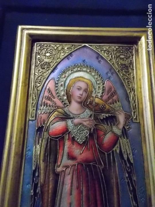 Arte: CUADRO TRIPTICO RELIGIOSO ESMALTADO MORATO - Foto 2 - 215449670