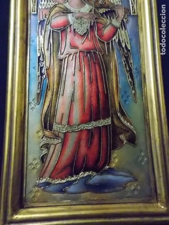 Arte: CUADRO TRIPTICO RELIGIOSO ESMALTADO MORATO - Foto 3 - 215449670