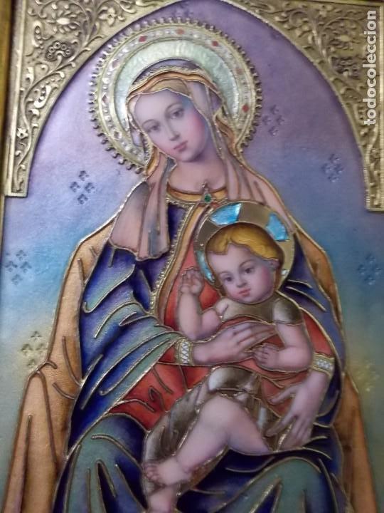 Arte: CUADRO TRIPTICO RELIGIOSO ESMALTADO MORATO - Foto 4 - 215449670