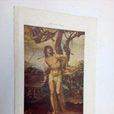 Arte: SAN SEBASTIAN POR EL SODOMA - LAMINA ESPASA C.1900. Lote 215462872